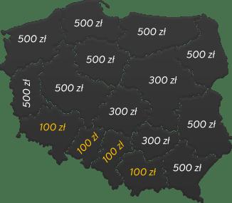 mapa kosztów transportu