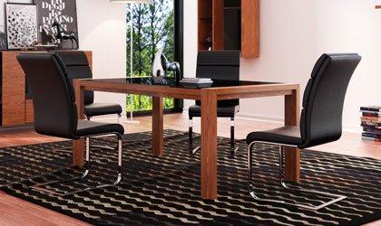 Kolonia - rozkładany stół ze szkłem