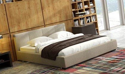 Minimalistyczne łóżko do sypialni z pojemnikiem