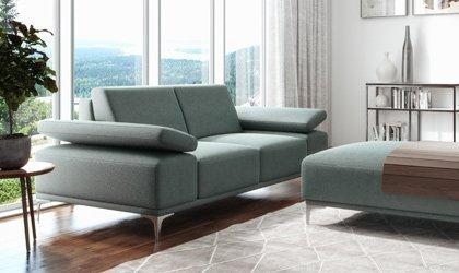 nowoczesna sofa lazarro z dopinaną pufą
