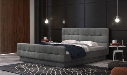 Oryginalne łóżko Memory w dowolnej tkaninie
