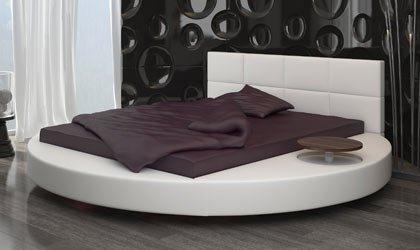 Oryginalne, okrągłe łóżko na wymiar