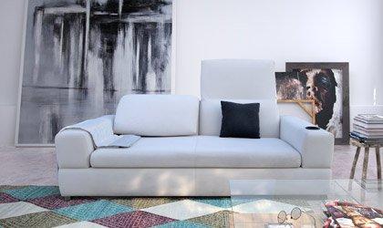 Sofa Domino z podnoszonymi oparciami