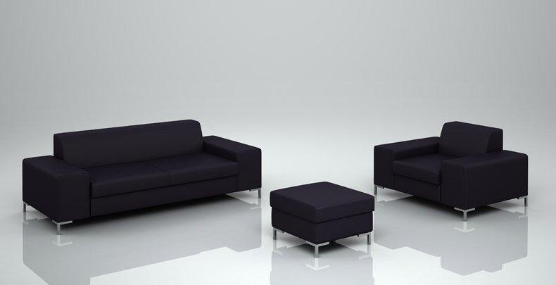 Ogromny Nowoczesne wypoczynki Milo, sofy z półkami, meble skórzane na wymiar ZM58
