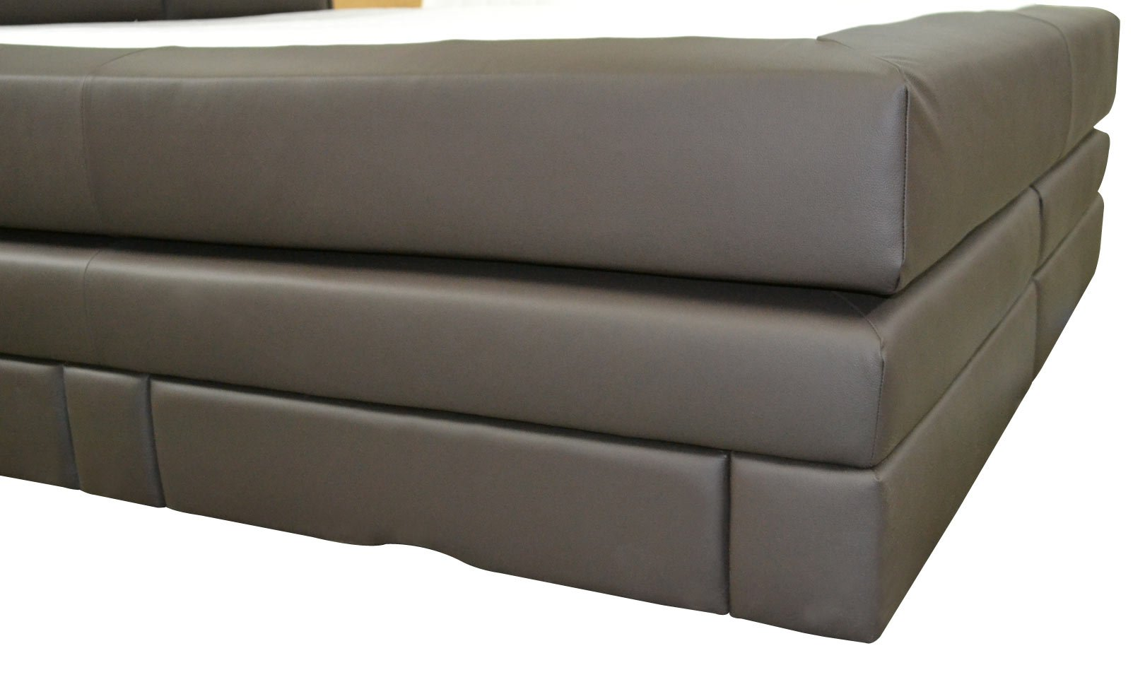 Skórzane łóżko Continental De Luxe Z Materacami 180 X 200 Cm